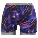 Black, Blue & Purple Tracers Spandex Shorts