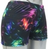 Black & Colorful Neurons / Fireworks Spandex Shorts