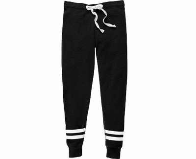 Black Game Day Jogger Pants - Choice of 22 Sports on Leg or Rear