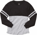 Black & Grey Oversize Game Day Jersey Pullover w/ optional Volleyball Imprint