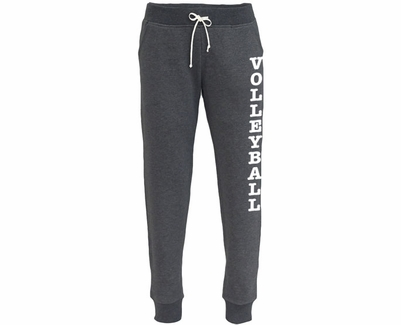 fine quality performance sportswear cute Black Heather Fleece Ladies Joggers with Pockets & Choice of 22 Sport  Prints on Leg