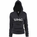 Black Soffe V-Neck Fleece Hoodie w/ Abstract Volleyball Design in 5 Colors