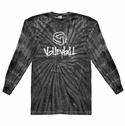 Black Tie Dye Long Sleeve Shirt - in 6 Volleyball Designs