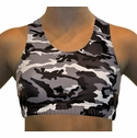 Black & White Camo Print Sports Bras