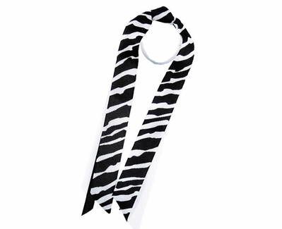 Black & White Zebra Ribbon Ponytail Streamers