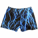 Blue Lightning Bolt Spandex Shorts