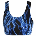 Blue Lightning Bolt Sports Bras