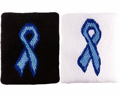 Blue Ribbon Prostate Cancer Wristbands - 2 Color Options