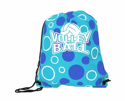 Blue Volleyball Bubble Dot Sling Packs