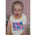 Born-To-Play Volleyball Baby Bibs