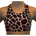 Brown Giraffe Sports Bras
