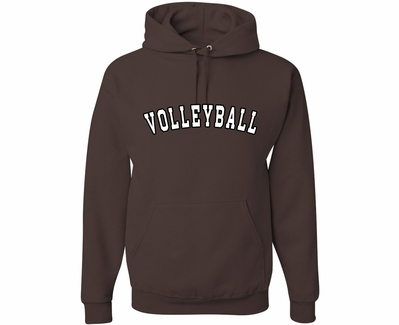 Brown Team Sport Printed Hooded Sweatshirt in 22 Sports