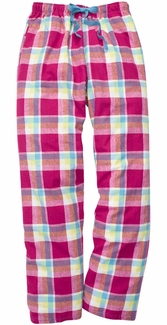 Caribbean Crush Plaid Flannel Lounge Pants - Choice of 22 Sports on Leg or Rear