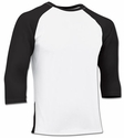 Champro DRI-GEAR White 3/4 Sleeve Baseball Shirt - 9 Sleeve Colors