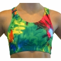 Colorful Tie-Dye Blast Sports Bras