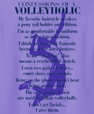 Confessions Of A Volleyholic Design Purple Volleyball T-Shirt