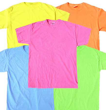Colorful neon dance epoxy dot block short sleeve t shirt for Neon coloured t shirts