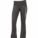 Dark Heather Grey Yoga Pants w/ Volleyball Printed on Leg