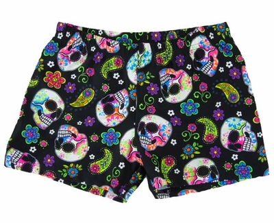 Day of the Dead Skulls Spandex Shorts