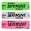 Defensive Neon Spandex Headband w/ Black Lettering - in 6 Colors