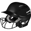 DeMarini Paradox Protege Pro Black Batting Helmet with Mask