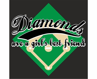 Diamonds Are a Girl's Best Friend Long Sleeve Shirt - in 20 Shirt Colors