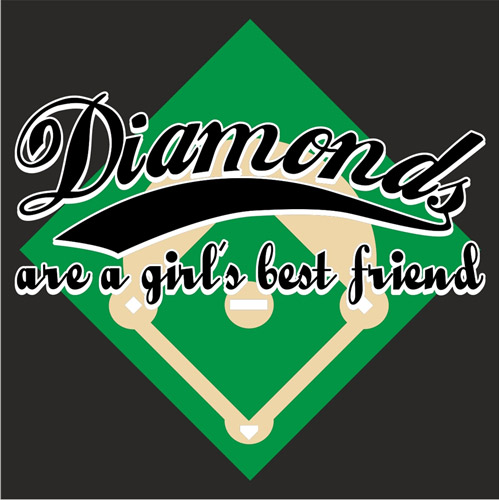 Diamonds Are a Girl's Best Friend Long Sleeve Shirt - in 18 Shirt Colors