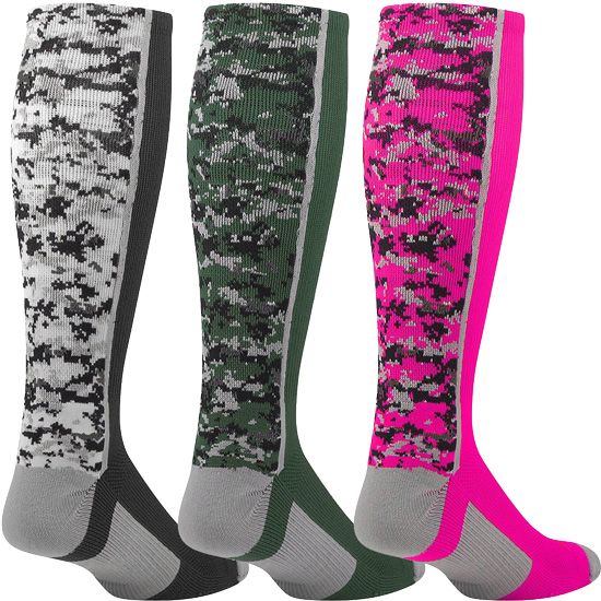 45debde3949 Digital Camouflage Knee High Performance Athletic Socks in 7 Camo ...