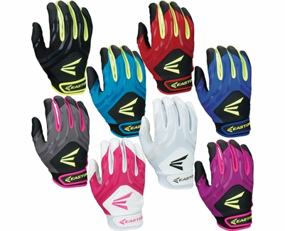 Easton HF3 Hyperskin Fastpitch Youth Batting Gloves - in 8 Colors
