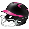 Easton's Z5 Black & Pink Fastpitch Batting Helmet with Mask