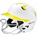 Easton's Z5 White & Optic Yellow Fastpitch Batting Helmet with Mask