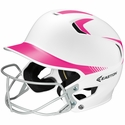 Easton's Z5 White & Pink Fastpitch Batting Helmet with Mask