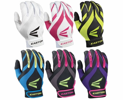 Easton Synergy II Fastpitch Youth Batting Gloves - in 6 Colors