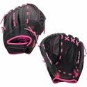 "Easton Z-FLEX 10"" Black & Pink Fastpitch Softball Gloves"