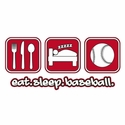 Eat Sleep Baseball Design Long Sleeve Shirt - in 18 Shirt Colors