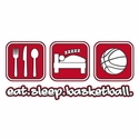 Eat Sleep Basketball Design Long Sleeve Shirt - in 20 Shirt Colors