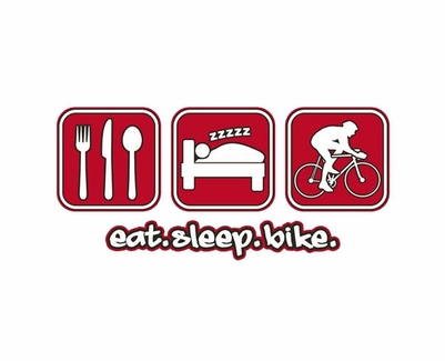 Eat Sleep Bike Design Long Sleeve Shirt - in 20 Shirt Colors
