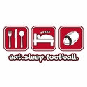 Eat Sleep Football Design Long Sleeve Shirt - in 20 Shirt Colors