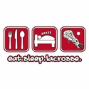 Eat Sleep Lacrosse Design Long Sleeve Shirt - in 20 Shirt Colors