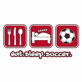 Eat Sleep Soccer Design Long Sleeve Shirt - in 18 Shirt Colors