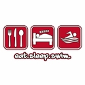 Eat Sleep Swim Design T-Shirt - in 22 Shirt Colors