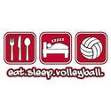 Eat Sleep Volleyball Design T-Shirt - in 22 Shirt Colors