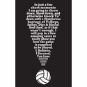 Exclamation Point! Volleyball Design Black T-Shirt