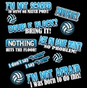 FEARLESS Volleyball Sayings Design Black T-Shirt