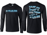 FEARLESS Volleyball Sayings Design Long Sleeve Black Shirt