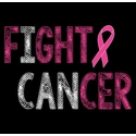 Fight Cancer Pink Ribbon Awareness T-Shirt - in 22 Shirt Colors