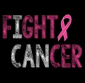 Fight Cancer Pink Ribbon Awareness T-Shirt - in 25 Shirt Colors