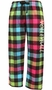 Flannel Plaid Lounge Pants - Choice of 22 Sport Prints on Leg or Rear - in 30 COLORS