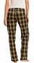 Plaid Flannel PJ Lounge Pants - Choice of 22 Sport Prints on Rear or Leg - in 30 COLORS