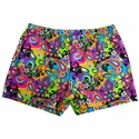 Flower Power Paisley Spandex Shorts